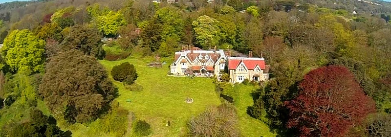 Aerial view of Lisle Combe